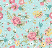 Seamless summer floral pattern — Stock Vector