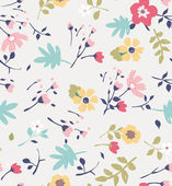 Seamless summer tiny flower pattern background — Stock Vector
