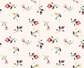 Seamless tiny floral pattern background — Stock Vector