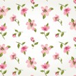 Stock Vector: Seamless pink vintage flower pattern background vector
