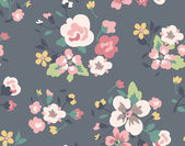 Cute vintage tiny flower seamless pattern background — Stock Vector