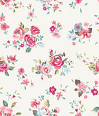 Tiny vintage cute flower vector pattern background — Stock Vector