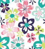 Retro seamless flower,floral background vector pattern — Stock Vector