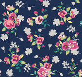 Retro vintage flower seamless pattern background — Stock Vector