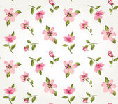 Seamless pink vintage flower pattern background vector — Stock Vector