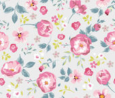 Seamless vintage flower pattern — Stock Vector
