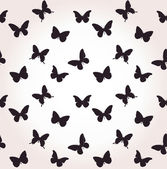 Seamless butterfly Isolated on White Background — Stock Vector