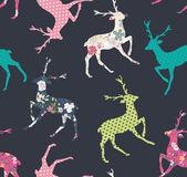 Seamless deer pattern vector background — Stock Vector