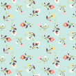 Tiny floral pattern background — Stock Vector #40441343