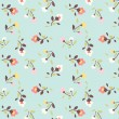 Tiny floral pattern background — Stock Vector
