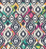 Seamless ethnic vector print pattern — Stock Vector