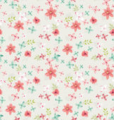 Seamless vintage tiny floral vector pattern — Stock Vector