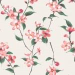Vintage spring flower branch pattern background — Stock Vector #47861669