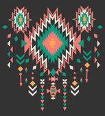 Ethnic print vector pattern background — Stock Vector