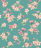 Seamless vintage flower branch pattern,blossom vector background — Stock Vector