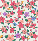 Vintage tiny flower seamless pattern background — Stock Vector