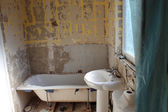 Bathroom refurbishment — Stock Photo