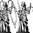 Themis. Justice — Vector de stock #23359690