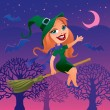 Vector de stock : Witch