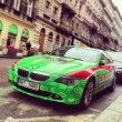 Green BMW car — Stock Photo