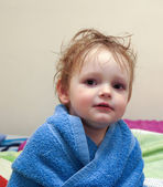 Child after shower — Stock Photo