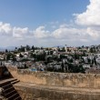 Stock Photo: View of Granadfrom Alhambra
