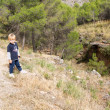 Little boy near ravine — Stock Photo #35082431