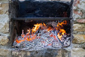 Barbecue en pierre — Photo