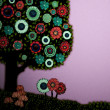 Abstract Whimsical Tree with a Purple Sunset Background — ストック写真 #22955088