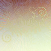Light Curly Plum Swirls on Abstract Faded Background — Stock Photo