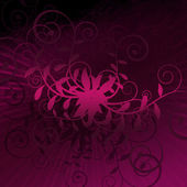 Curly Purple Burst of Grunge — 图库照片
