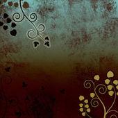 Abstraktní spálené modrá kudrnatá vines pozadí textury — Stock fotografie