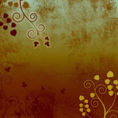 Burnt Brown Curly Grunge Vines Background Texture — Stock Photo