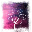 Sweet Framed Tree of Love on Lavender Purple Abstract Background — Stock Photo