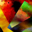Stock Photo: Quilted Color Paper Pieces - Broken Glass - Colorful Abstract Design