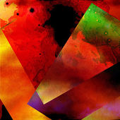 Red Wonder Broken Glass - Colorful Abstract Design — Stock Photo