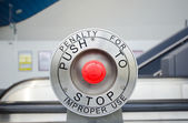 Red stop button — Stock Photo