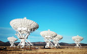 Very Large Array of Satellite Antennas in New Mexico — Stock Photo