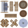 Outdoor Furniture Top View Set - 图库照片
