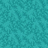 Blue green floral baby scrapbook background — Stock Photo