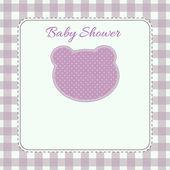 Růžový baby přeháňka pozvání karet — Stock fotografie