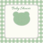 Green Baby Shower card invitation — Foto de Stock
