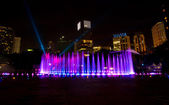 Colorful Dancing Fountains — Stock Photo