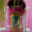 Shops with colorful arches — Stok fotoğraf