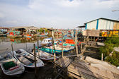 Fishing village at Sekinchan — Stock Photo