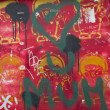 Graffiti with writing of luv you mom — Stock Photo #25169313