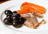 健康膳食与生鱼 — 图库照片
