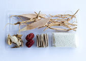 Chinese herbs for herbal soup — Stock Photo