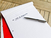 The heading for letter of resignation — Foto Stock