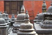 Rows of Stupa in Buddhist temple — ストック写真